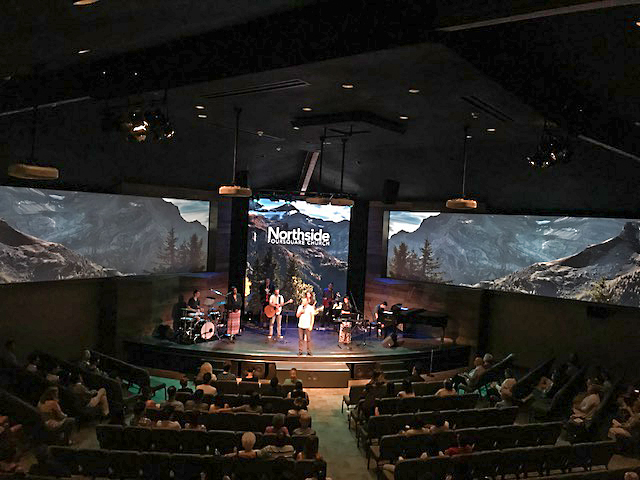 northside church video wall